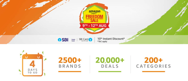 Amazon Freedom Sale [8th to 11th Aug 2019]