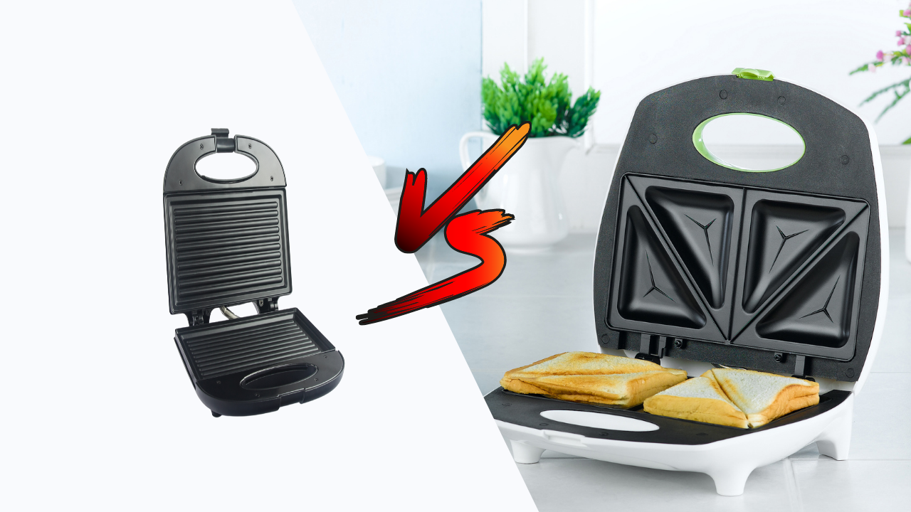 Difference between Sandwich maker and Grill